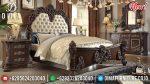 Set Kamar Tidur Mewah Jati Klasik Natural Terbaru ST-0897