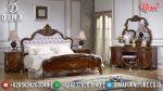 Set Kamar Tidur Mewah Klasik Brown Barokko ST-0917