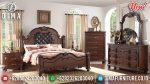Set Kamar Tidur Mewah Klasik Jati Murah Serrano ST-0915