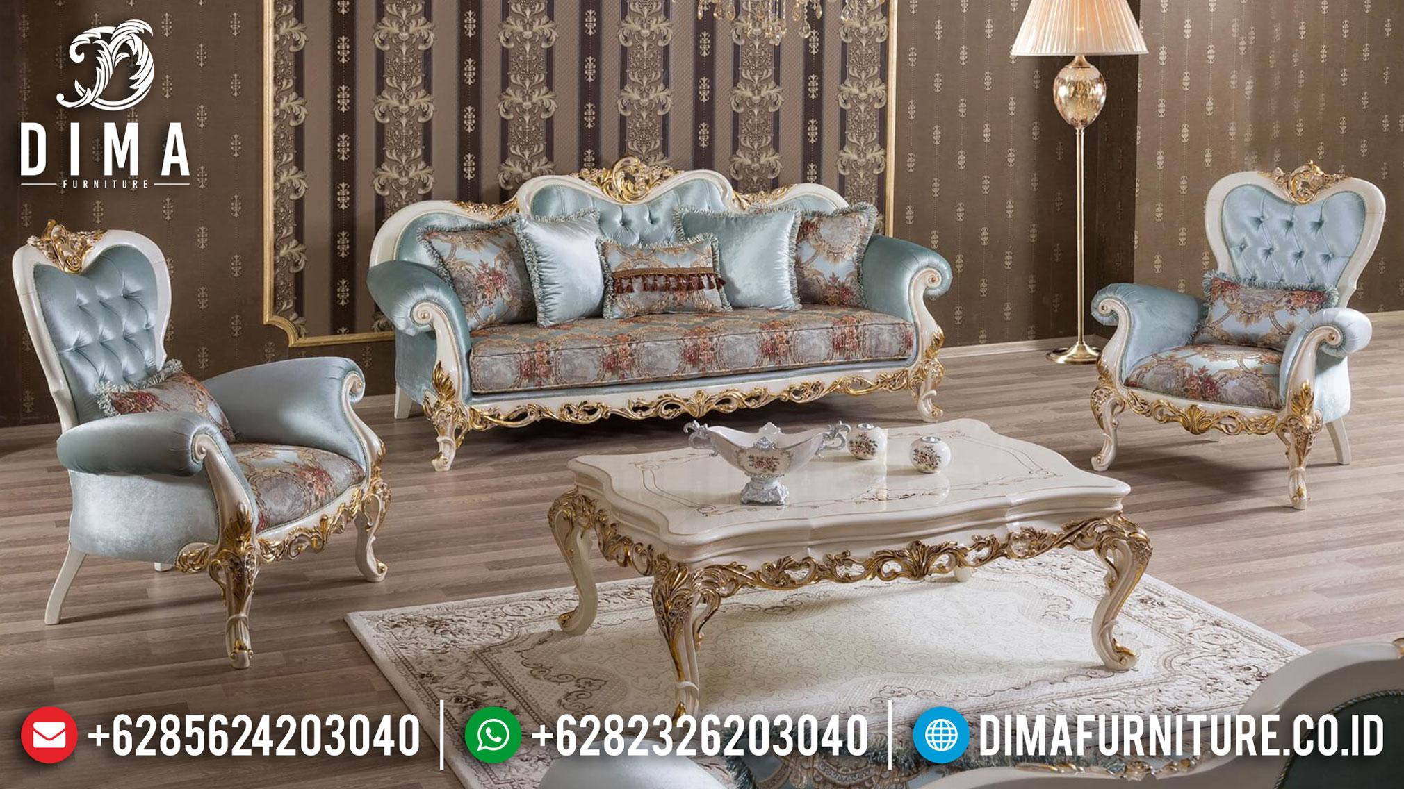 Set Sofa Tamu Mewah Ukiran Klasik Terbaru ST-0914