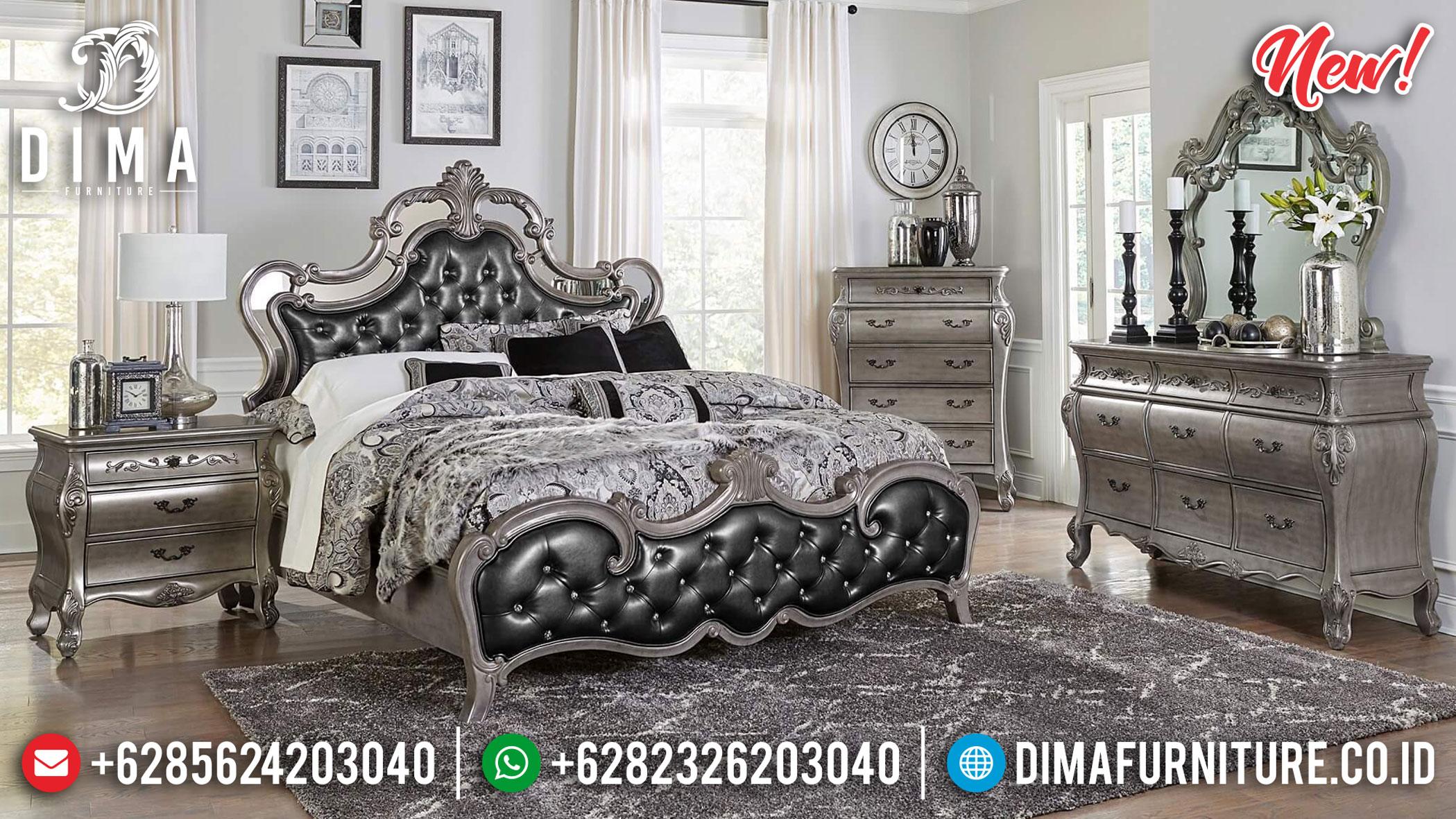 Set Tempat Tidur Mewah Klasik Brigette Silver ST-0909