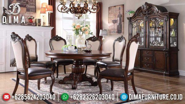 Absolute Meja Makan Minimalis Jati Classic Natural Luxury Mebel Jepara ST-0988