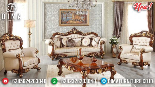 Buy Now Sofa Tamu Mewah Ukir Jepara Luxury Natural Jati Classic ST-0982