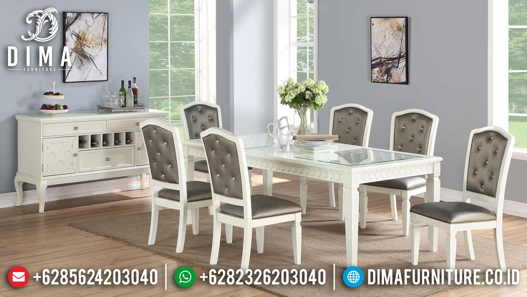 Cario Meja Makan Minimalis Jepara New Luxury Modern Design Furniture Jepara ST-0990