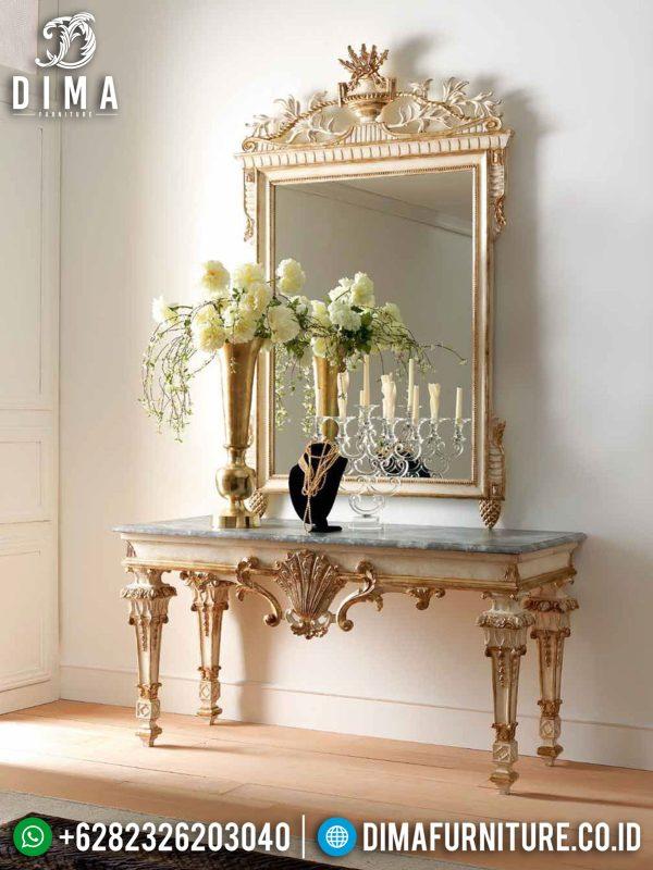 Desain Meja Konsol Mewah Ukiran Jepara Luxury Carving Grade A Solid Wood ST-0946