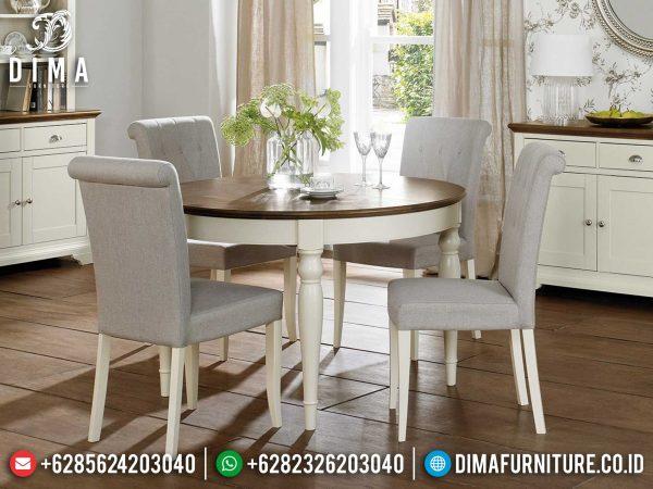 Desain Meja Makan Minimalis Bundar Simple Classic Luxury Grade Mebel Jepara ST-0938