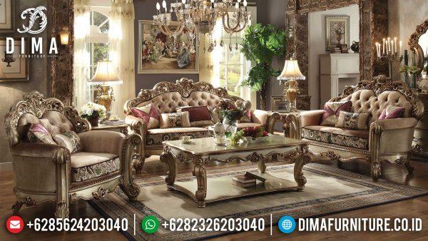 Desain Sofa Tamu Mewah Jepara High Quality Guaranted Mebel Jepara Terbaru ST-0984