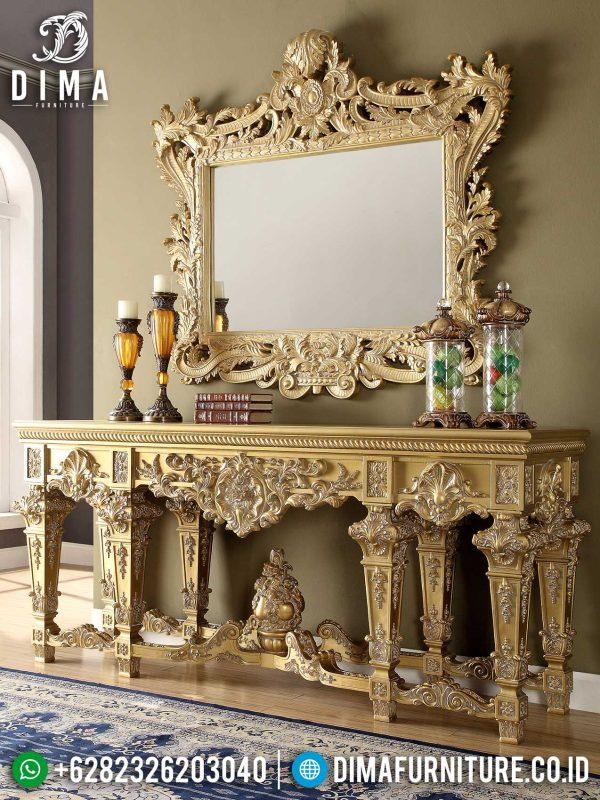 Gloria Meja Konsul Mewah Jepara Golden Luxury Glossy Great Furniture Royals ST-0949