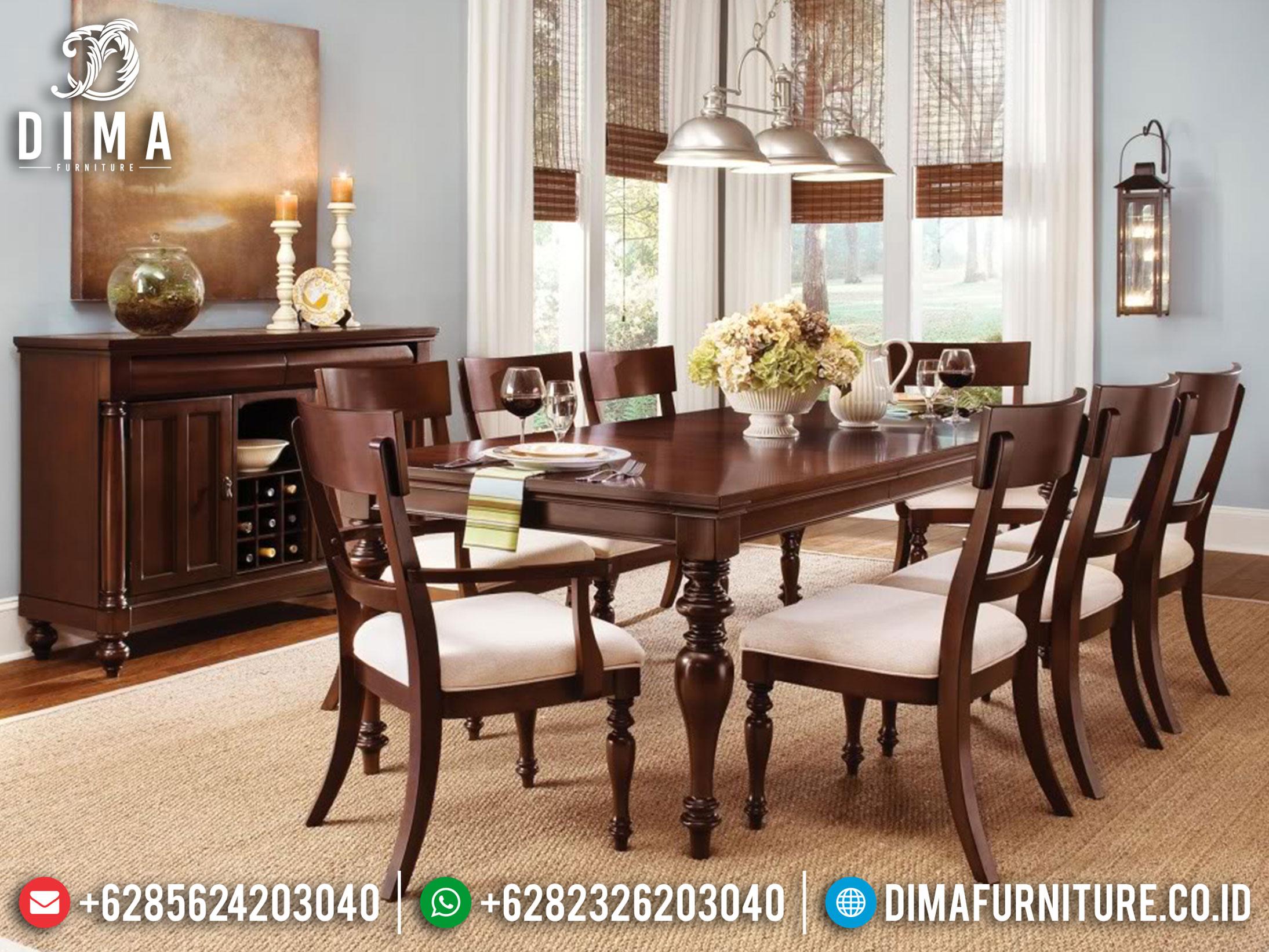 Gloria Meja Makan Minimalis Jepara Luxury Natural Classic New Year Update ST-0923