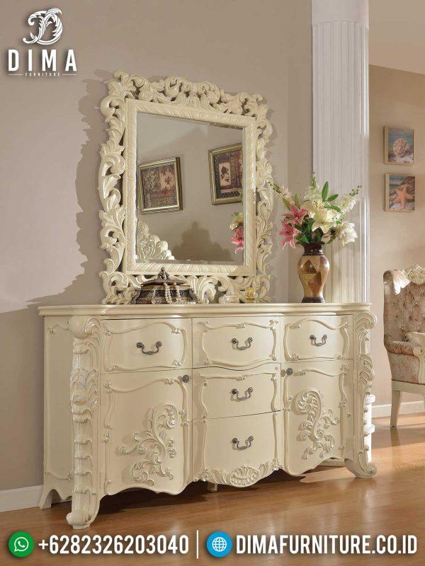 Harga Meja Konsul Ukiran Luxury Classic Art Deco White Ivory Mebel Jepara ST-0965