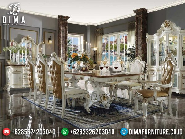 Harga Meja Makan Mewah Ukiran Jepara Luxury Classic Glorious Product ST-0941
