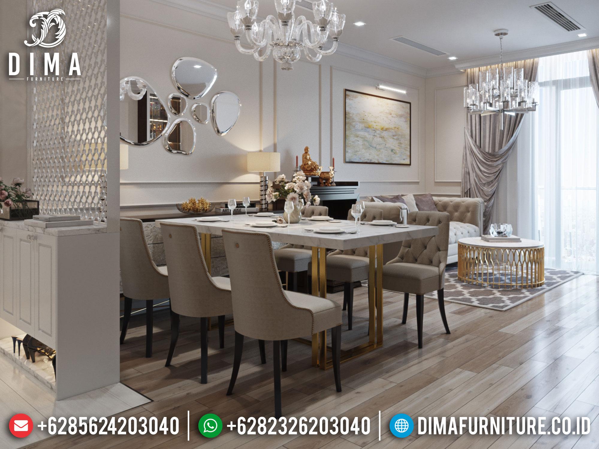 Harga Meja Makan Modern Minimalis Jepara Luxury Set Design Inspiring ST-0957
