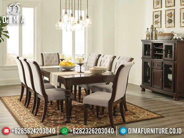 Jual Meja Makan Minimalis Natural Classic Luxury New Design 2021 ST-0921