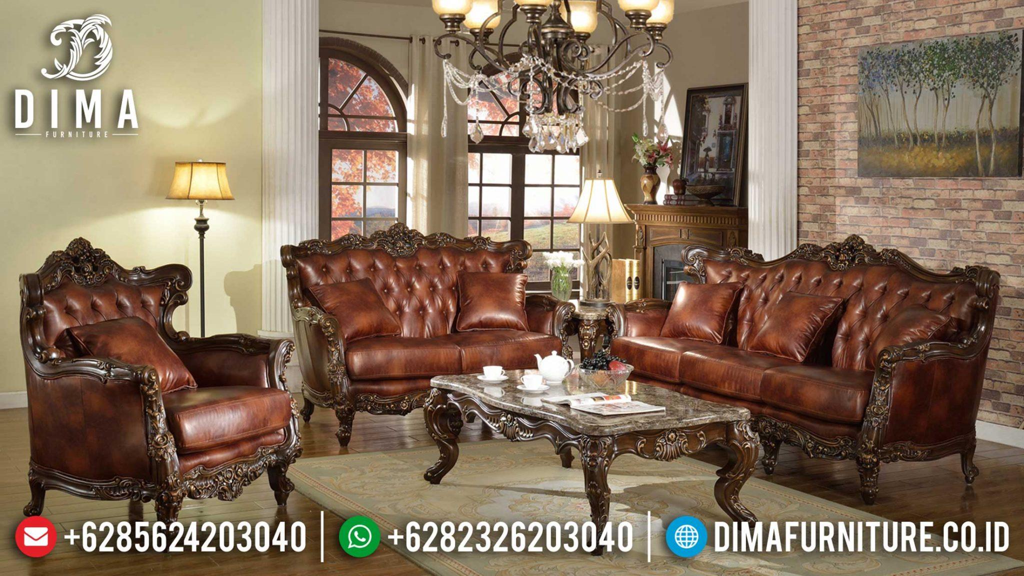 Jual Sofa Mewah Ruang Tamu Luxury Classic Harga Terjangkau New Desain ST-0977
