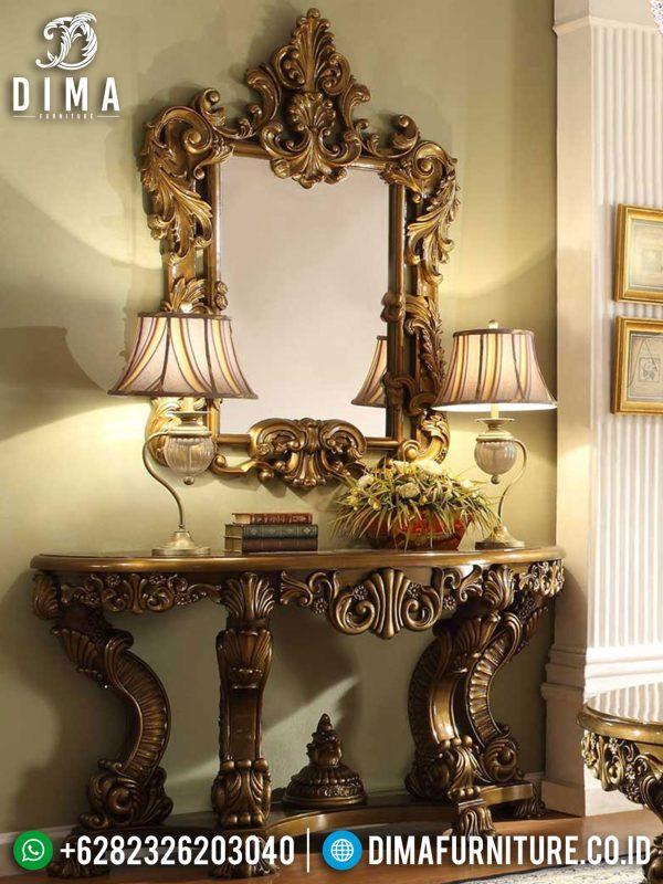 Meja Konsol Mewah Jepara Classic Luxury New Edition Christmas Furniture Terbaru ST-0970