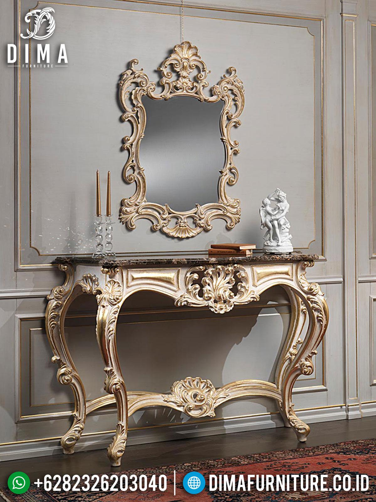 Meja Konsul Mewah Jepara Luxury Carving Beautiful Design Furniture Jepara Realese ST-0964