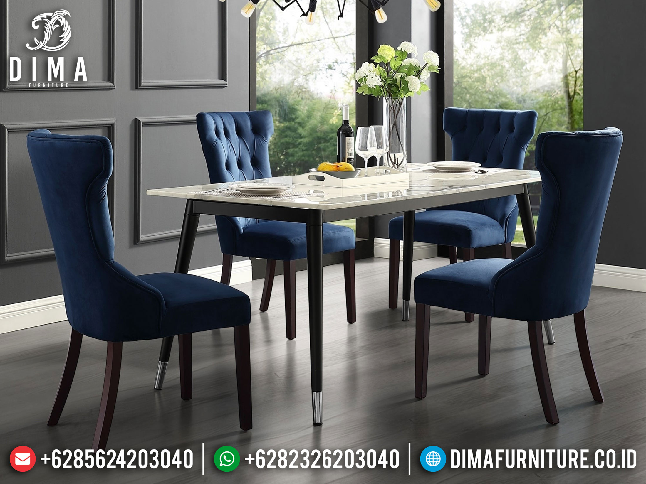 New Set Meja Makan Minimalis Modern Furniture Jepara Luxury ST-0958