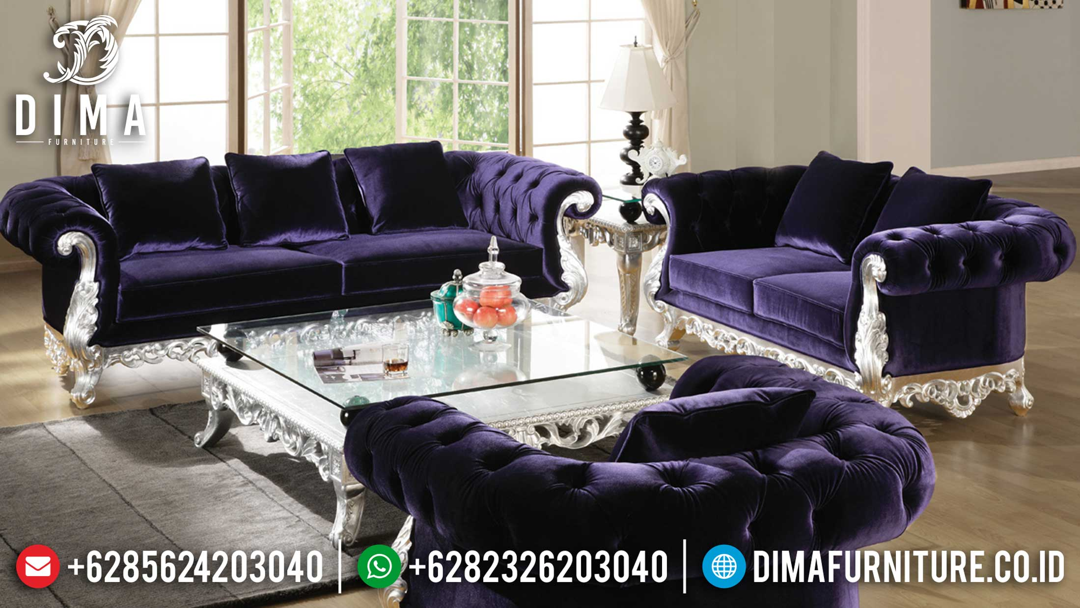Sofa Tamu Mewah Emma Luxury Carving Classic High Quality Product Furniture Jepara ST-0980