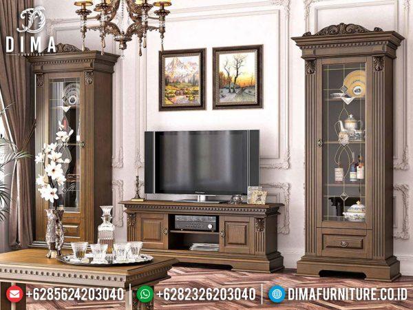 Bufet TV Minimalis Jepara Luxury Design Natural Classic Kualitas Terbaik ST-1016