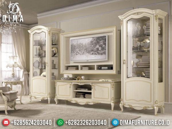 Desain Bufet TV Minimalis Mewah Jepara Luxury Classic New Art Deco Style ST-1020