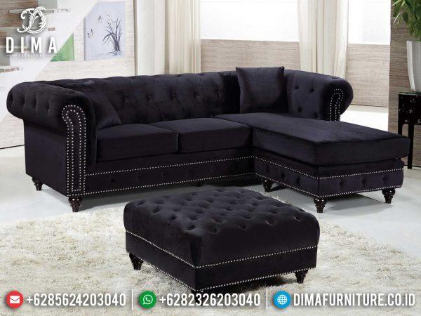 Desain Sofa Tamu Minimalis L New Chesterfield Black Edition Luxury ST-0992