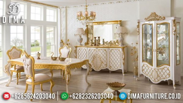 Gorgeous Design Meja Makan Mewah Ukir Jepara Luxury Art Deco Color ST-1055