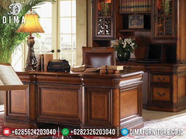 Great Quality Meja Kantor Minimalis Jati Natural Classic Mebel Jepara ST-1047