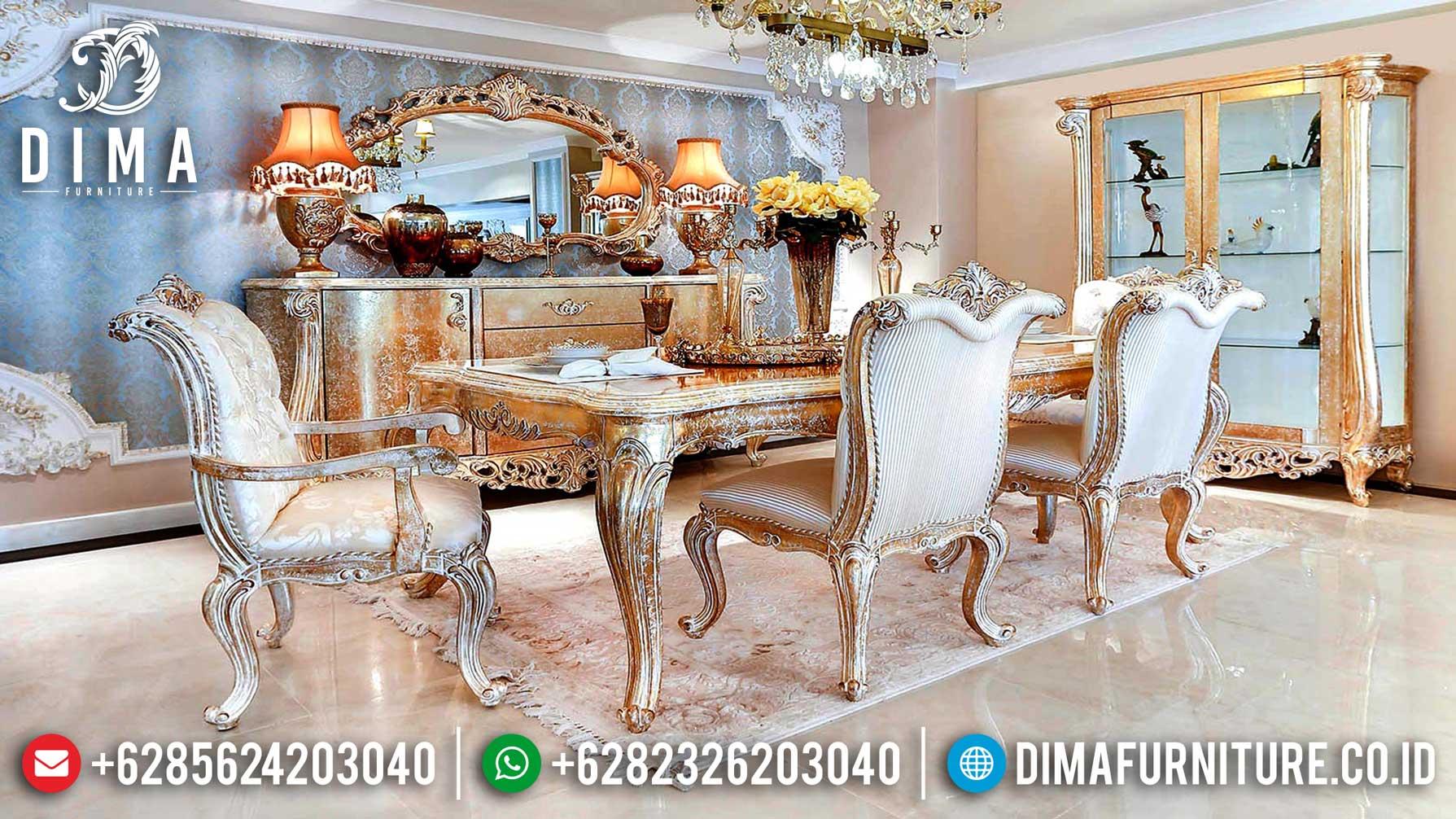Harga Meja Makan Mewah Ukiran Classic Luxury Best Sale 2020 ST-1029