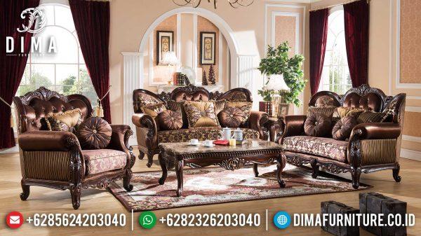 Harga Sofa Tamu Mewah Jati Natural Classic Imperial Design Inspiring ST-1002