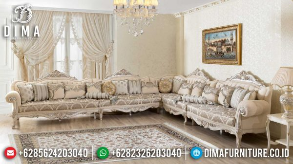 Harga Sofa Tamu Mewah Ukiran Classic New Design Grade A Wood Quality ST-1008