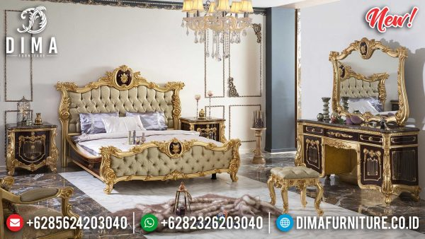 Harga Tempat Tidur Mewah Luxury Classic New Louise Royal Design ST-1066