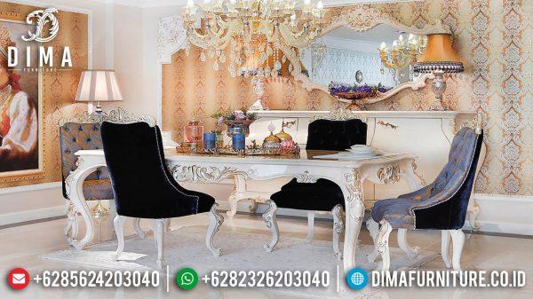 High Quality Meja Makan Mewah Jepara Luxury Classic Mahoni Perhutani ST-1031