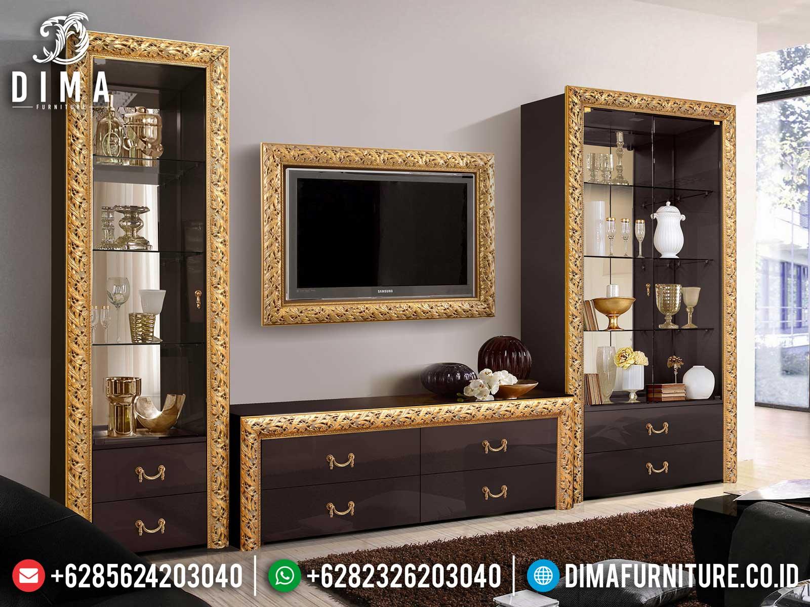 Inspiring Design Bufet TV Minimalis Mewah Golden Carving Luxury Jepara ST-1022