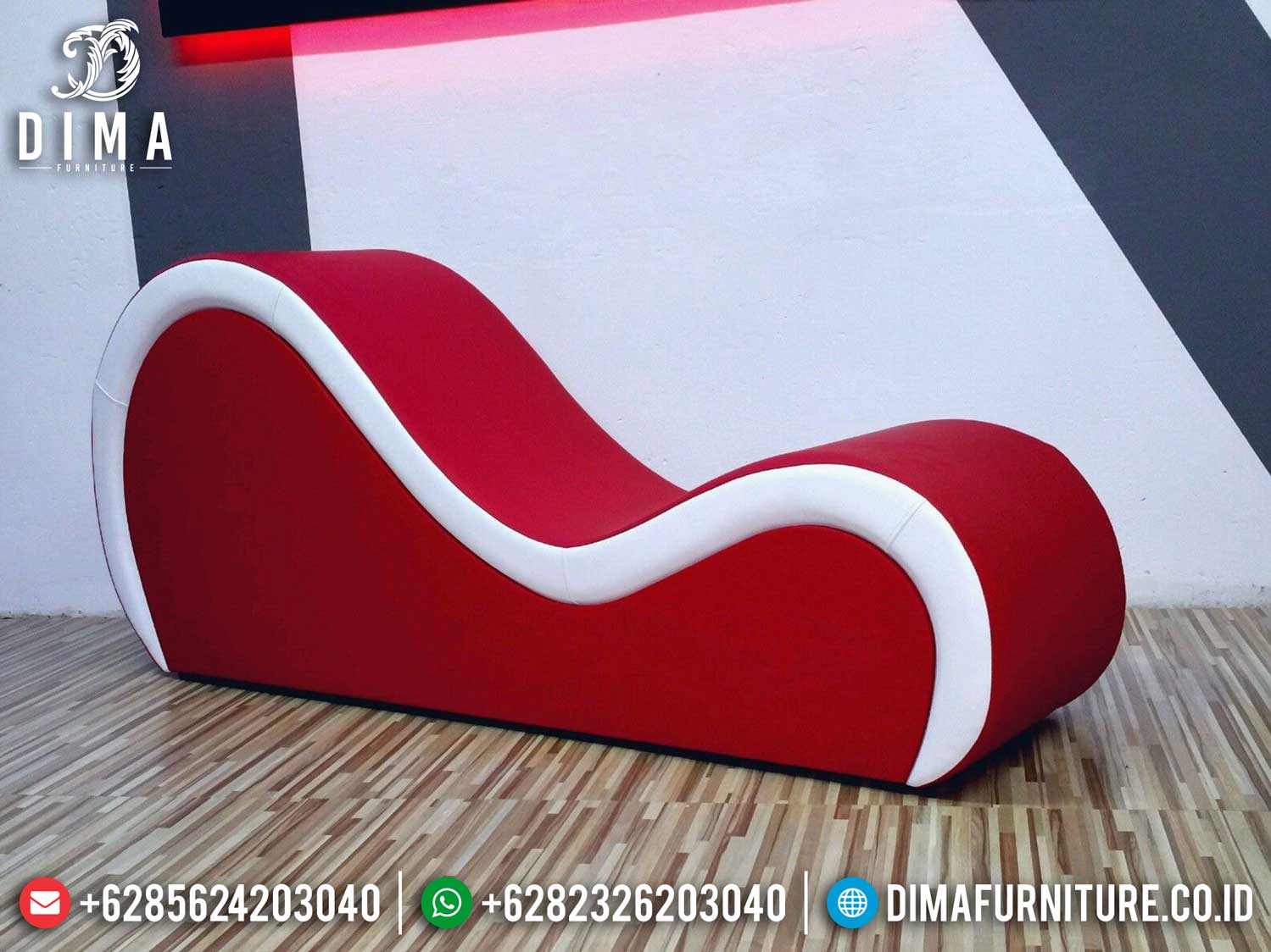 Love Red Heart Sofa Tantra Kamasutra Luxury Leather Jepara ST-1077