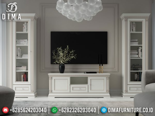 Model Bufet TV Minimalis Modern New Design White Duco Elegant Color ST-1021