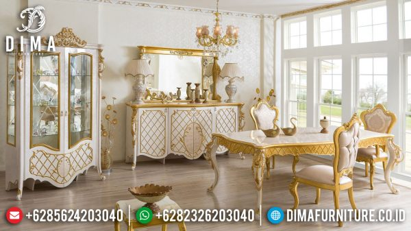 Model Meja Makan Mewah Luxury Classic Carving Turkish Style Furniture Jepara Terbaru ST-1038
