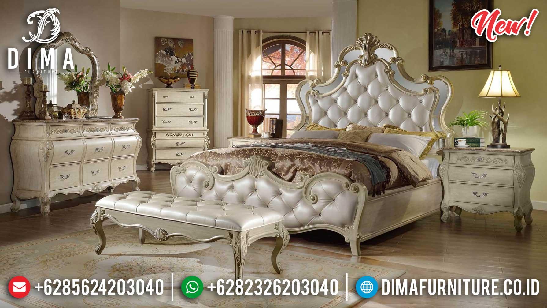 New Model Tempat Tidur Mewah Classic Luxury Art Deco Beauty Carving Design ST-1068