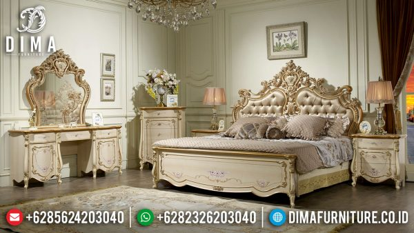 Sale Kamar Set Mewah Ukiran New Design Luxury Solid Wood Perhutani ST-1062