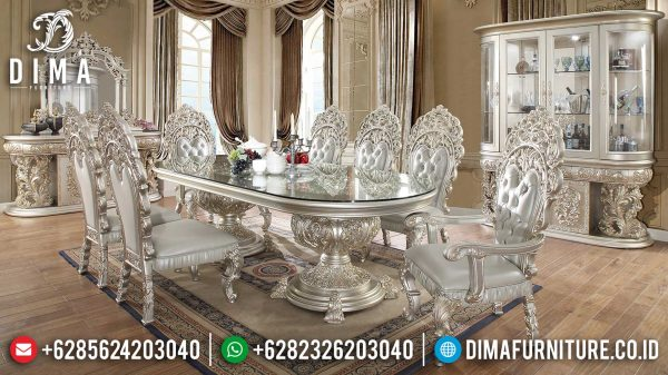 Set Meja Makan Mewah Ukir Jepara Luxury Classic Great Quality Wood ST-1030