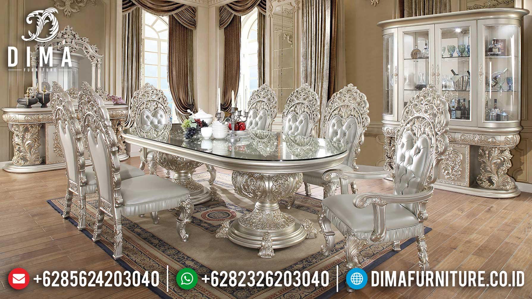 Set Meja Makan Mewah Ukir Jepara Luxury Classic Great Quality Wood ST-1030