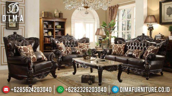 Sofa Tamu Mewah Jati Natural Luxury Classic Great Solid Wood Perhutani ST-1013