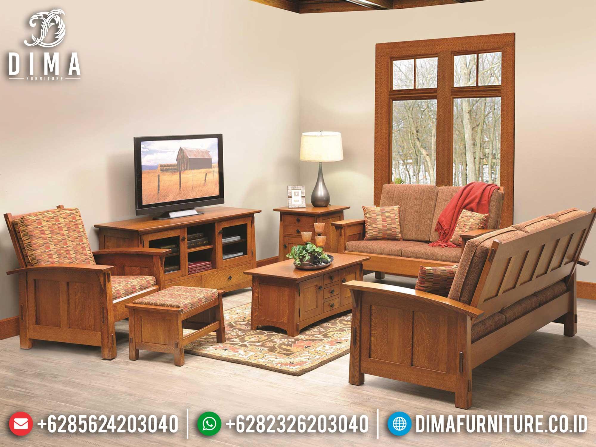 Sofa Tamu Minimalis Jati Natural Solid Wood Grade A Furniture Jepara ST-0991