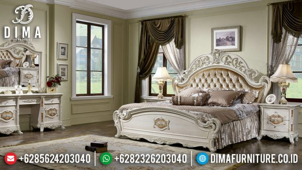 Tempat Tidur Mewah Belvyah Luxury Carving Design Inspiring Bedroom ST-1064
