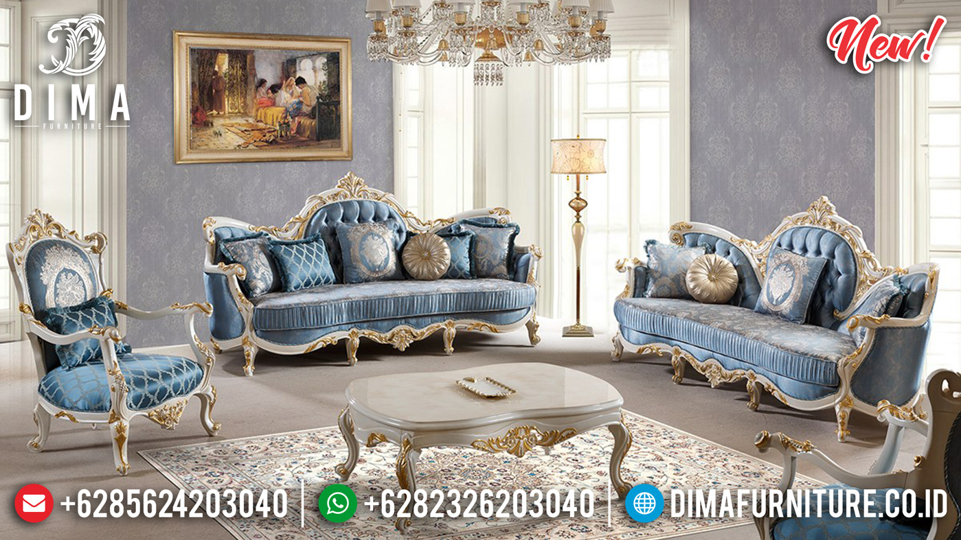 Unique Style Sofa Tamu Mewah Terbaru Jepara Luxury Carving Soft Royal Foam Quality ST-1004