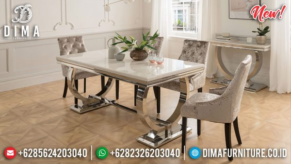 Best Offers Meja Makan Minimalis Modern Jepara Luxury Classic Furniture ST-1166