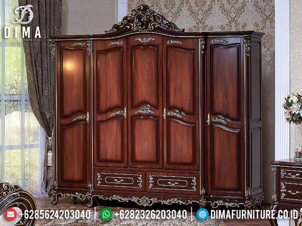 Elegant Style Lemari Pakaian Jati Mewah Natural Klasik New Design 2021 ST-1096Elegant Style Lemari Pakaian Jati Mewah Natural Klasik New Design 2021 ST-1096
