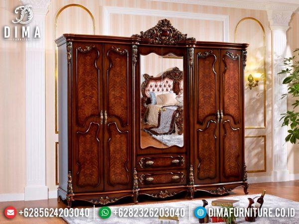 Flash Sale Lemari Pakaian Kayu Jati Perhutani Natural Luxury Color Jepara ST-1098