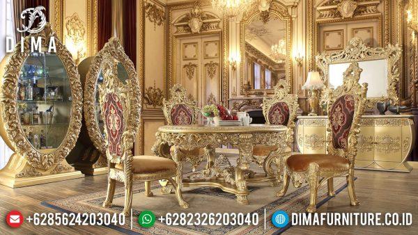 Great Meja Makan Mewah 6 Kursi Luxury Elegant Style Mebel Jepara ST-1158
