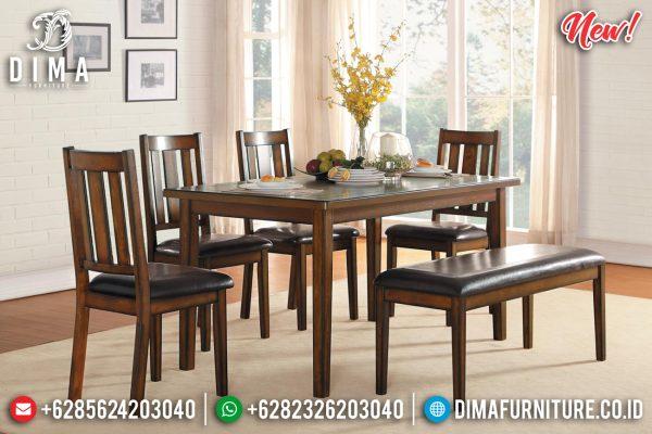 Harga Meja Makan Minimalis Jati Klasik Natural Color Luxury Furniture Jepara ST-1115