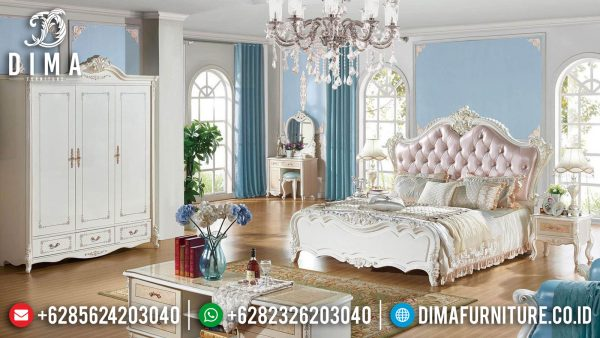 Jual Kamar Set Mewah Putih Duco Luxury Carving Jepara Greatest Item ST-1141
